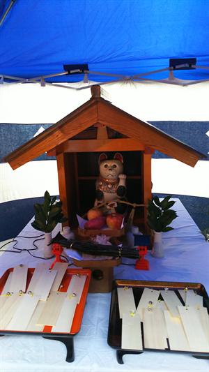 招き猫まつりの猫神社