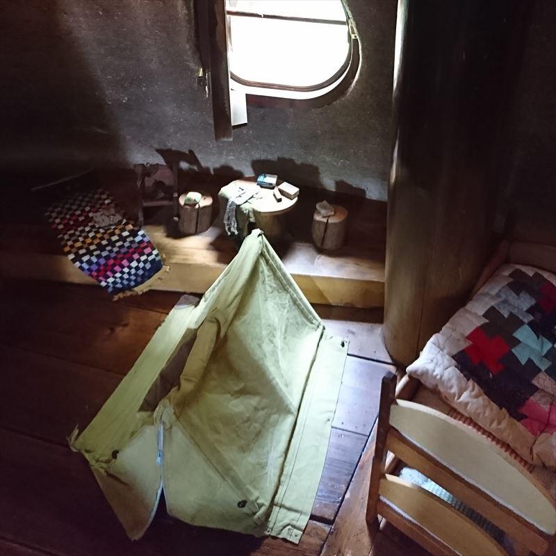 あけぼの子どもの森公園のきのこの家スナフキンのテント