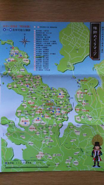 名護屋城周辺の陣跡の地図