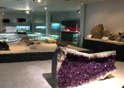 竹島ファンタジー館にある沢山の化石や世界中の貝殻の展示