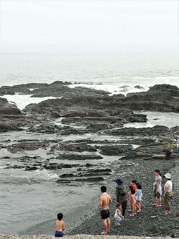 鴫立庵の海水浴場